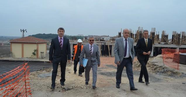 Kaymakam, İHL okul inşaatını yerinde inceledi
