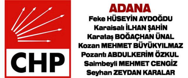 CHP'nin kesinleşen belediye başkan adayları