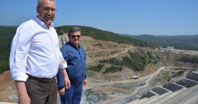 Gölecik Barajı  inşaatına tam  gaz devam!