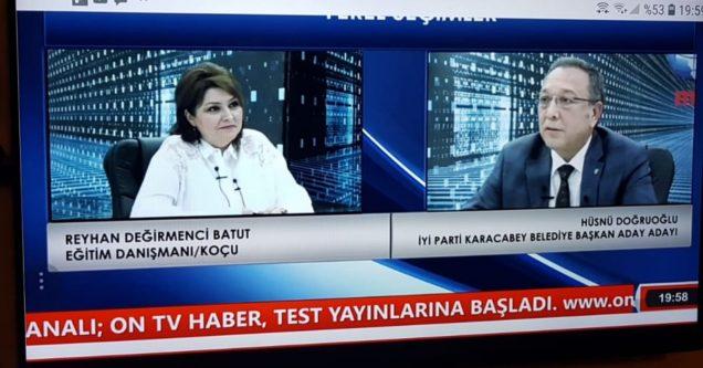 İyi Parti'li Doğruoğlu ON TV'de  projelerini anlattı