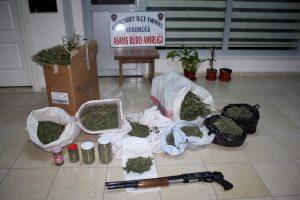 Polisten  uyuşturucu  baskını