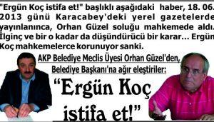 """""""Ergün Koç istifa et!"""""""