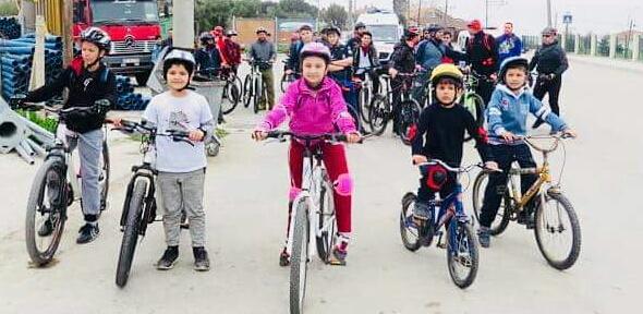 Küçük bisikletçilerin büyük azmi!