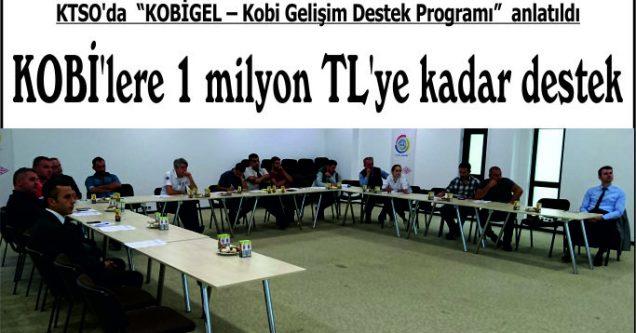 KOBİ'lere 1 milyon TL'ye kadar destek