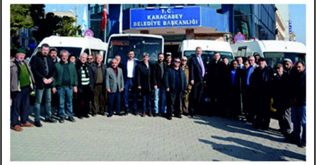 Karacabey'de minibüsçüler uzlaştı