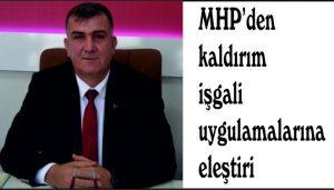 MHP'den kaldırım işgali uygulamalarına eleştiri