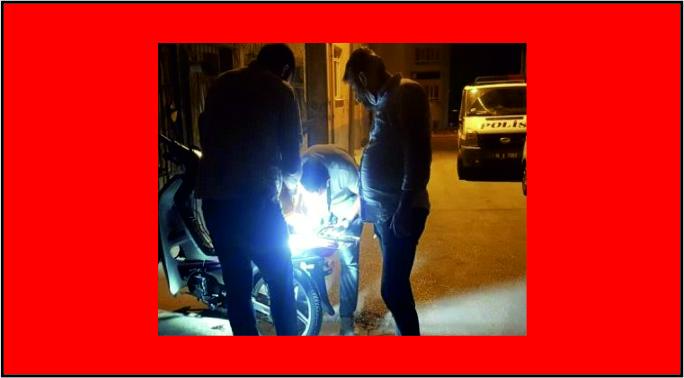 Motosiklet hırsızları mahalleye yakalandı