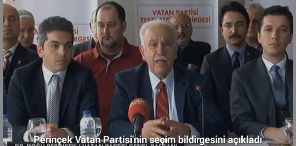 """""""Rant değil, üretim için tek seçenek; Vatan Partisi!"""""""