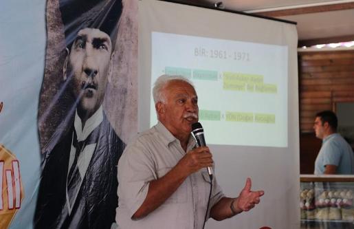 """Perinçek; """"Atatürk, devrimin sürmesi  için iki çizgi mücadelesi verdi"""""""
