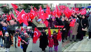 Mehmetçiğe destek yürüyüşü