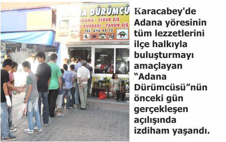 Adana Dürümcüsü'nde izdiham