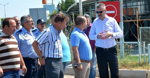 Başkan Özkan, çalışmaları  yerinde denetliyor