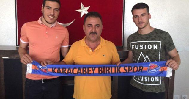 Batuhan Er ve Zeynel Alkan  Karacabey Birlikspor'da
