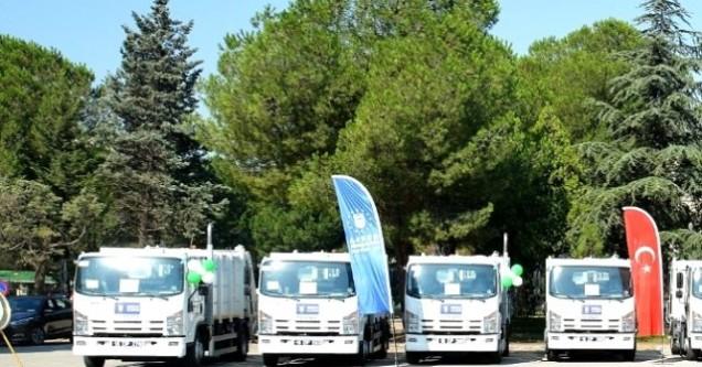 Büyükşehir'den  çöp kamyonu desteği