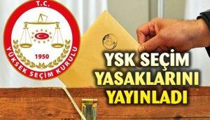 Seçim Yasakları Resmi Gazete'de