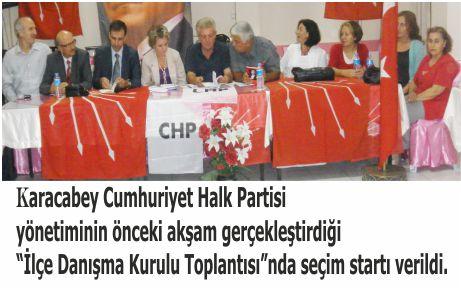 CHP, seçim startını verdi
