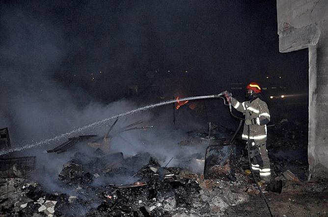 Karacabey'de yangın korkuttu!