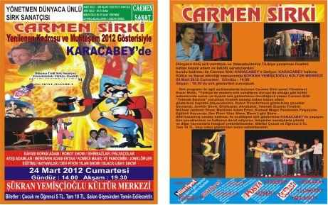 Dünyaca ünlü Carmen Sirki geliyor!