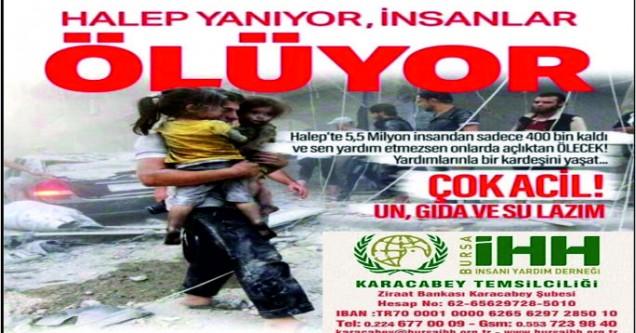 'Karacabeyliler, Halep yardımlarınızı bekliyor!'