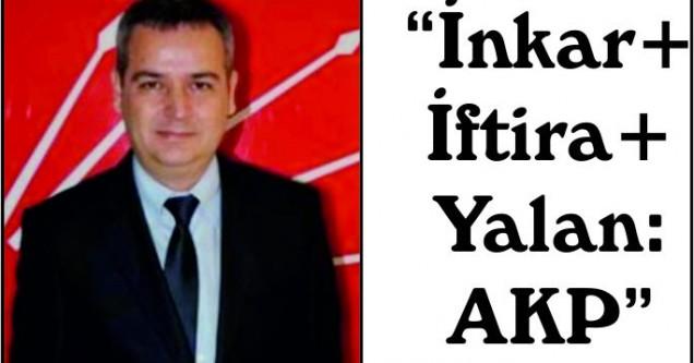 """İnkar+İftira+Yalan=AKP"""