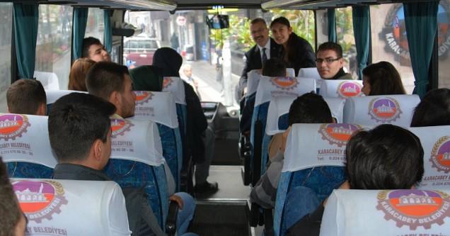 Belediye'den ücretsiz otobüs