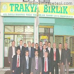 Trakya Birlik üst yönetiminden kooperatiflere ziyaret