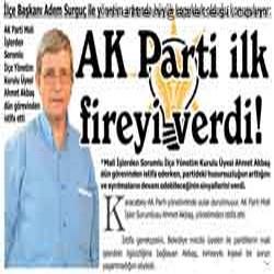 AK Parti ilk fireyi verdi!