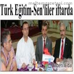 Türk Eğitim Sen'liler iftarda