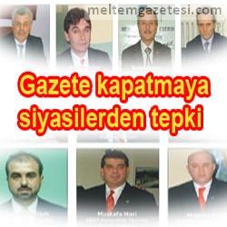 Gazete kapatmaya siyasi partilerden tepki
