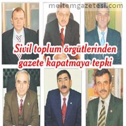 Sivil toplum örgütlerinden gazete kapatmaya tepki