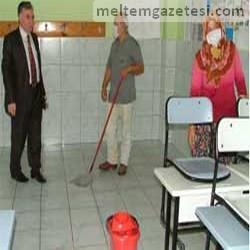 """Okullarda, """"Domuz Gribi"""" temizliği"""