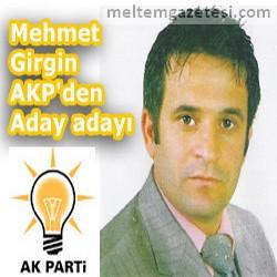 Mehmet Girgin AKP'den aday adayı