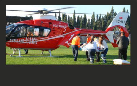 Hava ambulansı hayat kurtarıyor