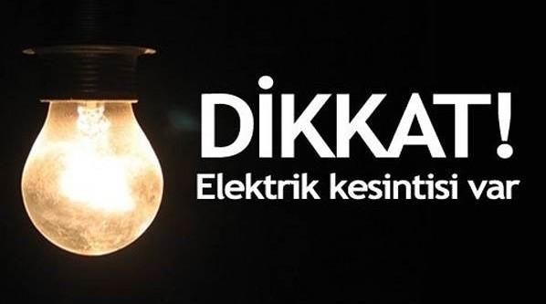 Pazar günü  Karacabey elektriksiz!
