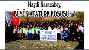 Haydi Karacabey,  BÜYÜK ATATÜRK KOŞUSU'na!