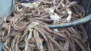 Karacabey'de kablo hırsızlığı