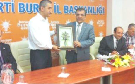 Karacabey AKP'den İl Başkanına ziyaret