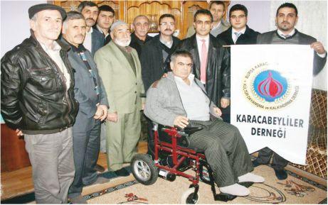 Karacabeyliler Derneği'nden akülü araç desteği
