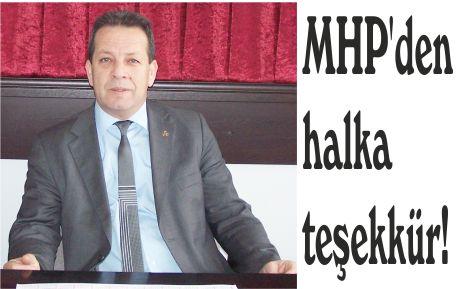 MHP'den halka teşekkür!