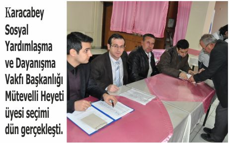 Mütevelli Heyeti üye seçimi yapıldı
