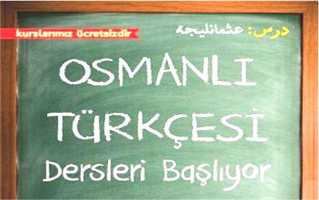 Osmanlı Türkçesi kursları başlıyor
