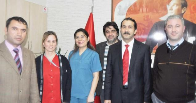 Sağlık Sen, hastanenin yeni  yöneticilerine başarı diledi