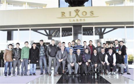 Şampiyon Hamidiye'nin Antalya keyfi
