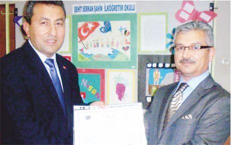 Şehit Serkan Şahin sertifikasını aldı!