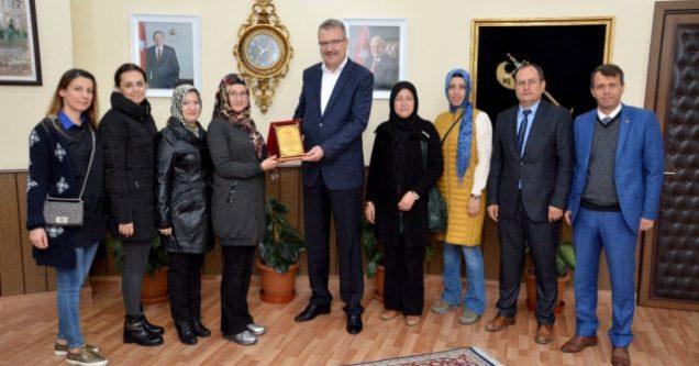 Başkan  Özkan'a  teşekkür  ziyareti