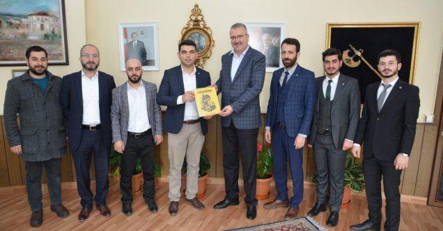 TÜGVA'dan Özkan'a ziyaret