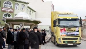 Karacabey'den Suriye'ye 5. yardım TIR'ı