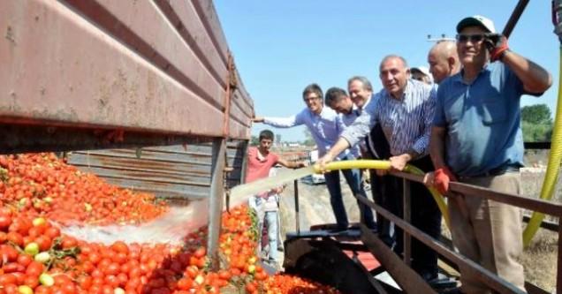 CHP'li Gürsel Tekin çiftçilerle buluştu