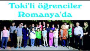 Toki'li öğrenciler Romanya'da