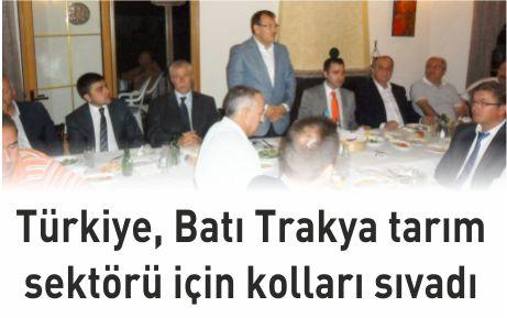 Türkiye, Batı Trakya tarım sektörü için kolları sıvadı